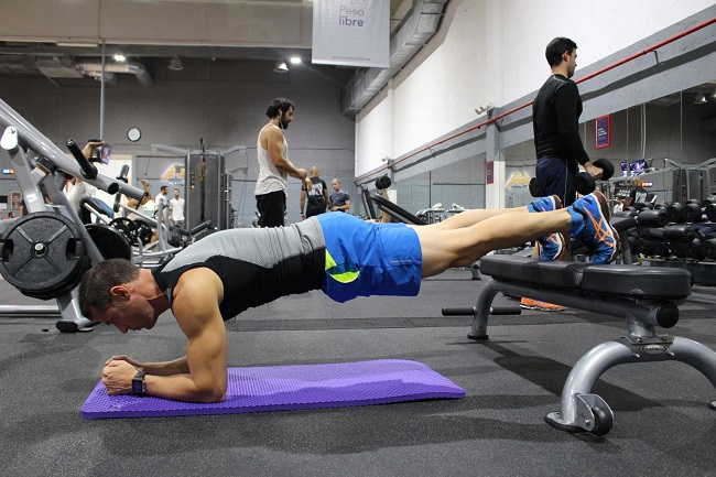Abdominal core plates - varying the inclination