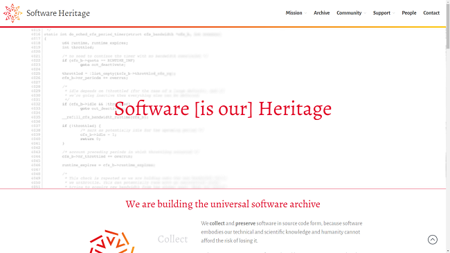 Software Heritage is the largest open source software archive with over 3 billion archives