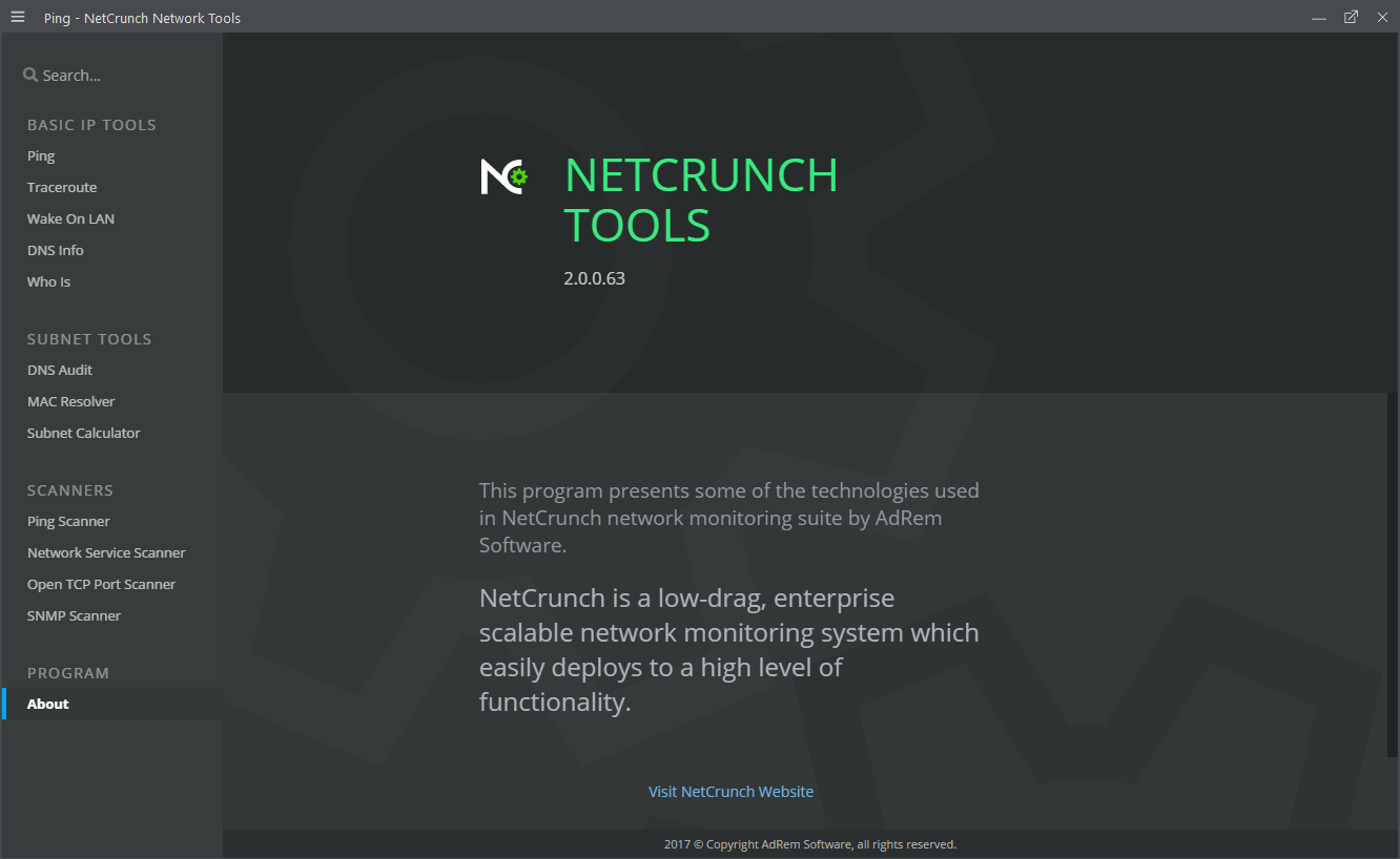 Ping, DNS audits, WhoIs ... with NetCrunch Tools you have everything to scan a network